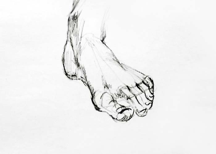 Drawing Foot - How to Draw Foot